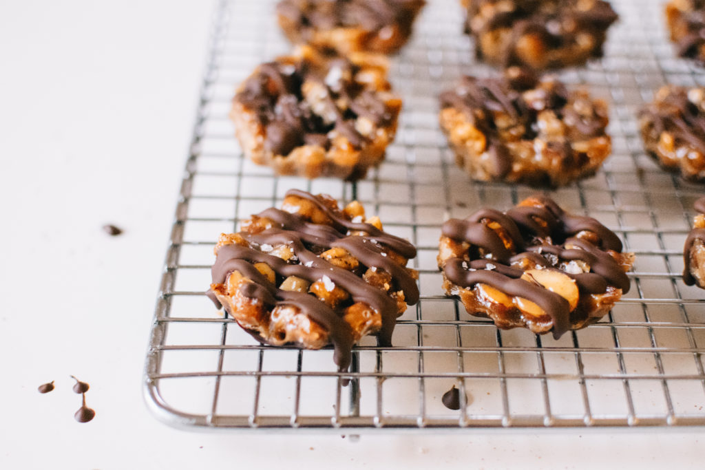 SPICED CARAMEL CHOCOLATE NUT CLUSTERS!