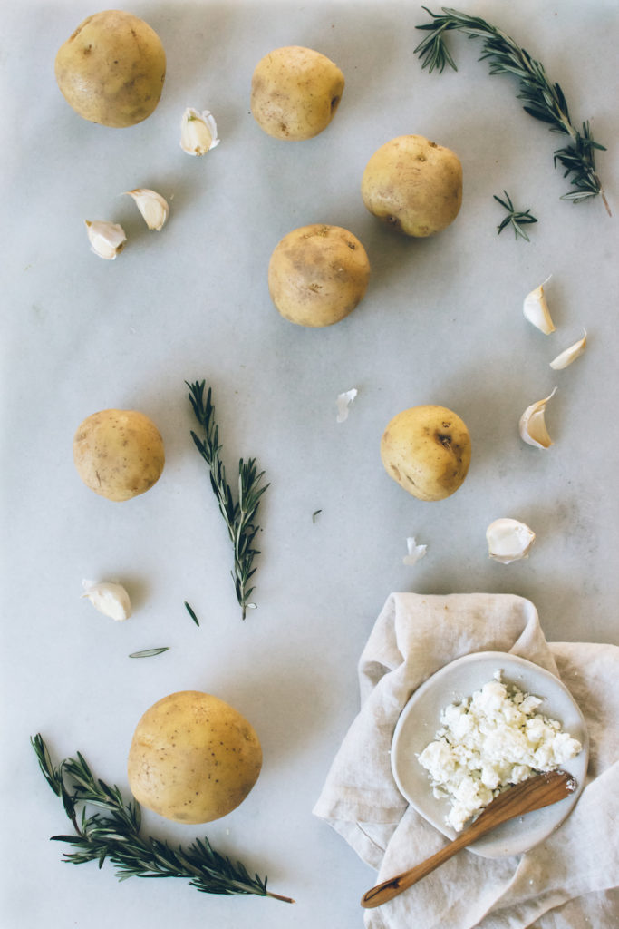 ... THANKSGIVING: ROSEMARY CHÈVRE MASHED POTATOES. | Kale and Caramel