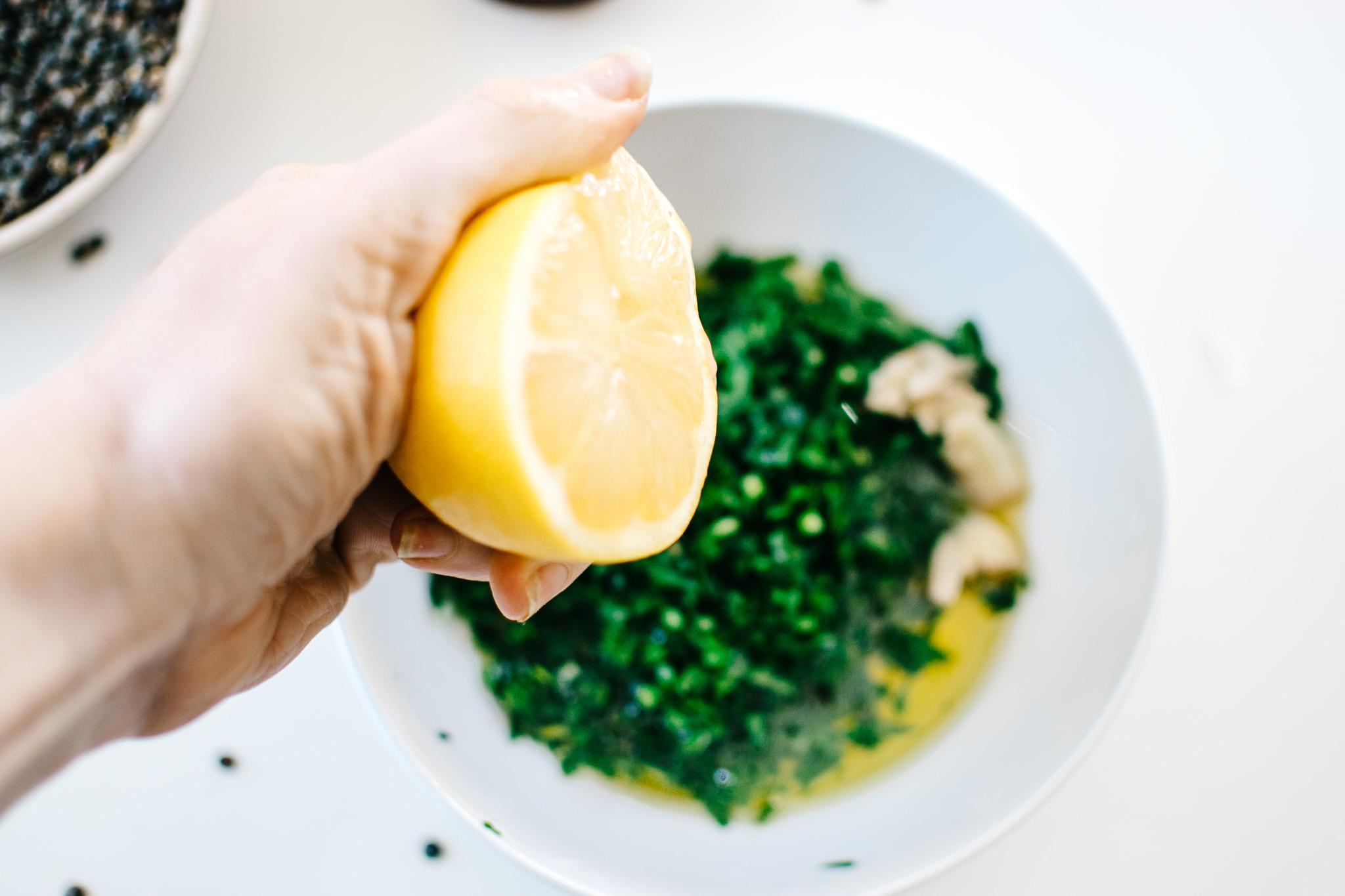 squeeze lemon herb sauce