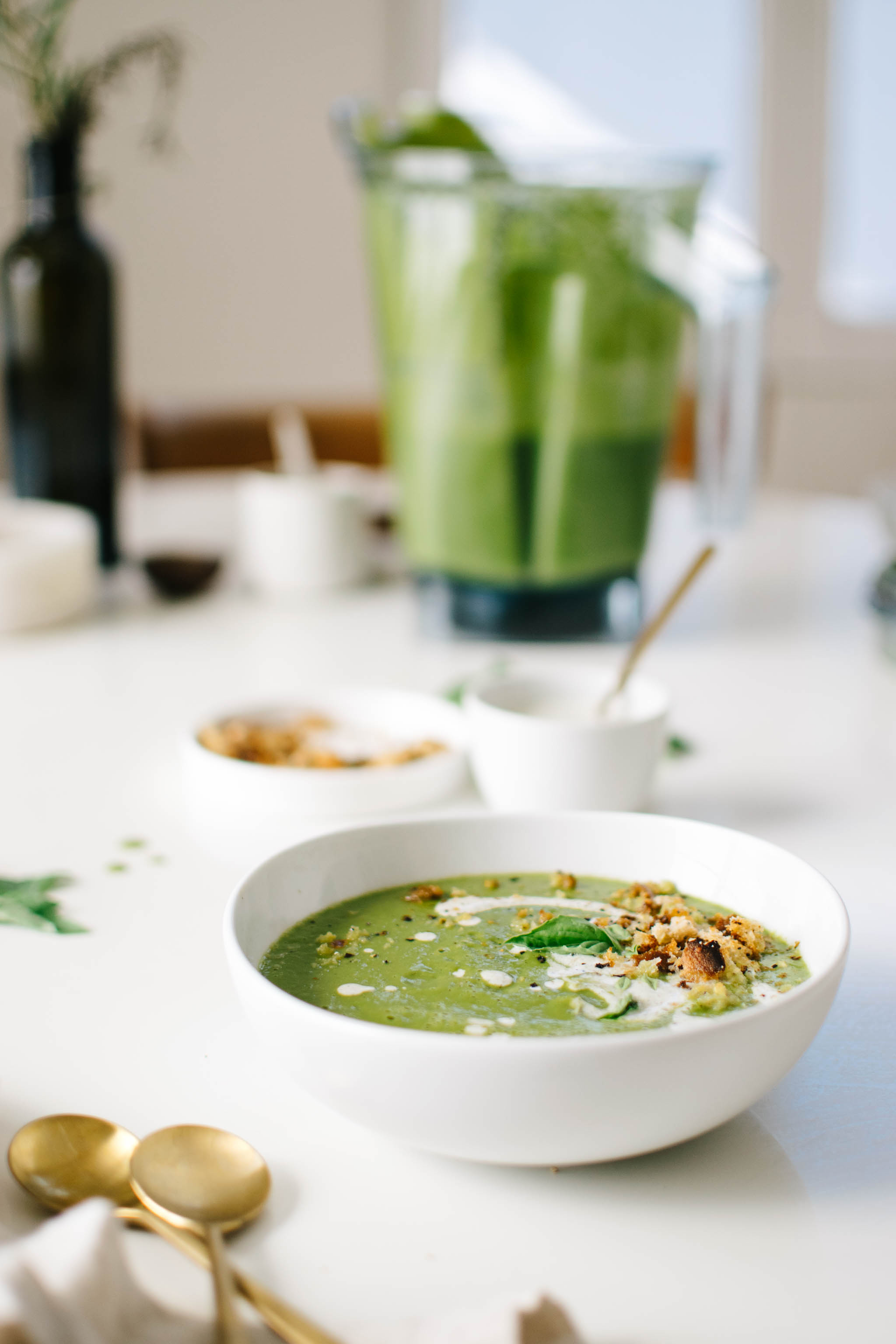 Win Vitamix Ascent Blender Zucchini Basil Soup