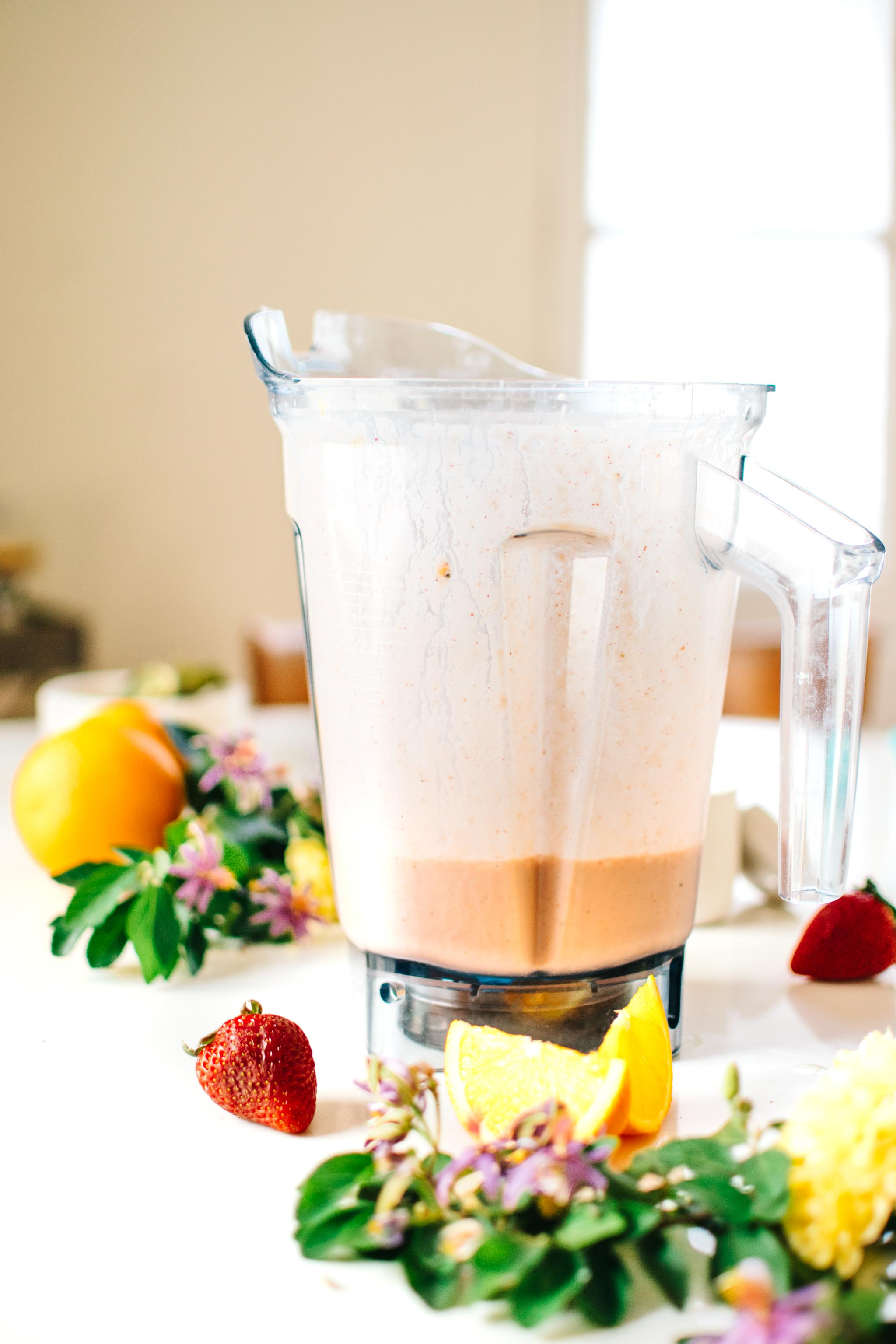 Blender Strawberry Orange Blossom Creamsicle Smoothie