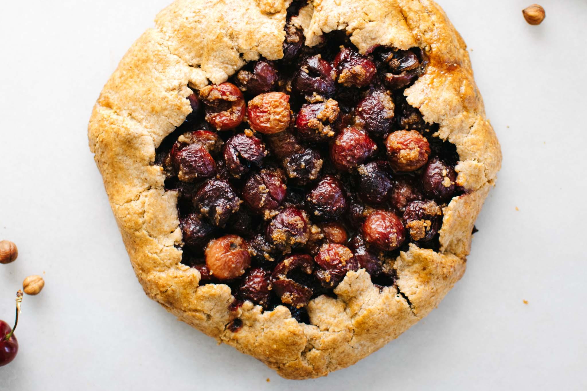Hazelnut Cherry Galette