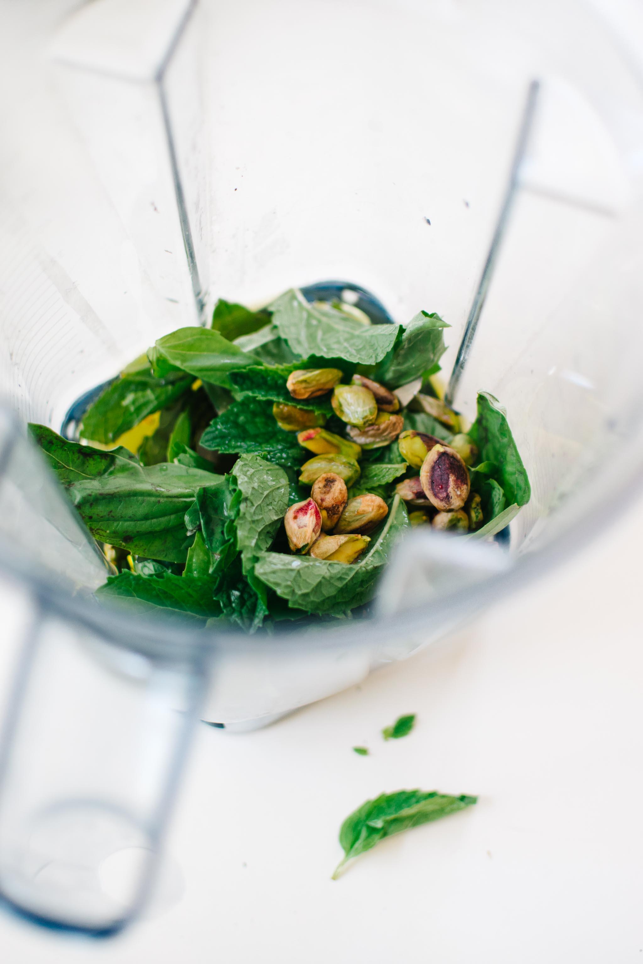 Bail Mint Pistachio Pesto