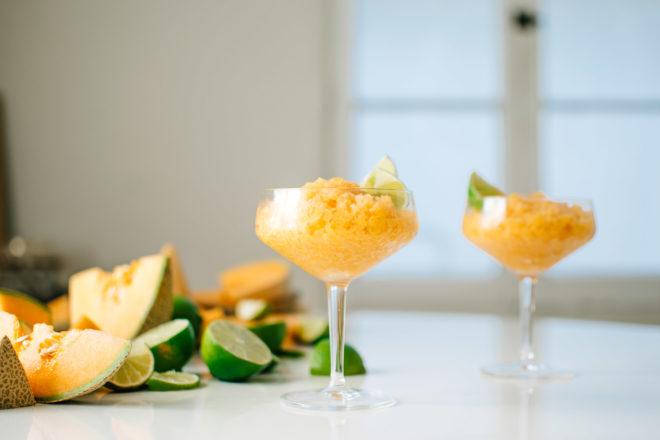 Cardamom Lime Cantaloupe Granita