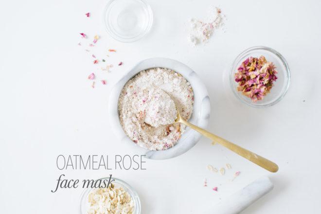 OATMEAL ROSE FACE MASK DIY. | Kale