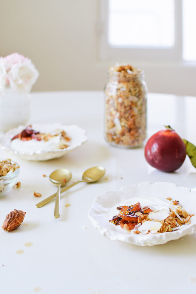 CARAMELIZED NECTARINES WITH MAPLE COCONUT GRANOLA. | Kale ...