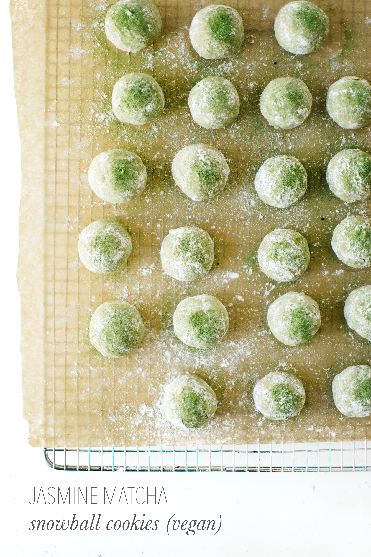 Title Jasmine Matcha Snowball Cookies Vegan Kale Caramel