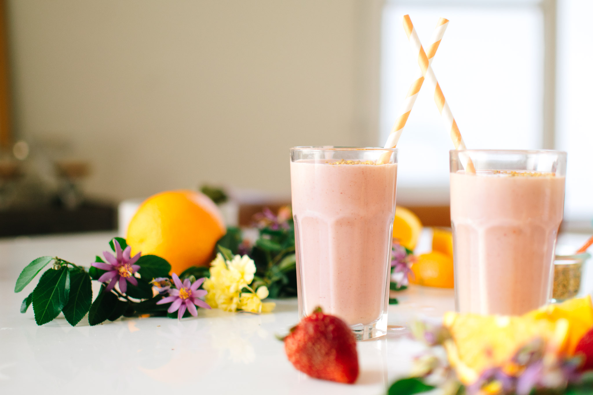 Strawberry Orange Blossom Creamsicle Smoothie