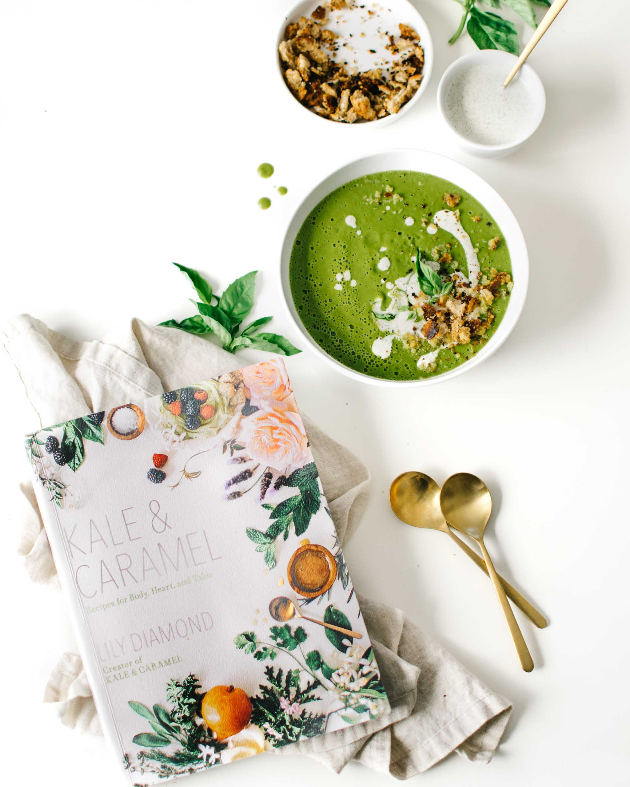 Zucchini Basil Soup from Kale & Caramel: Recipes for Body, Heart, and Table