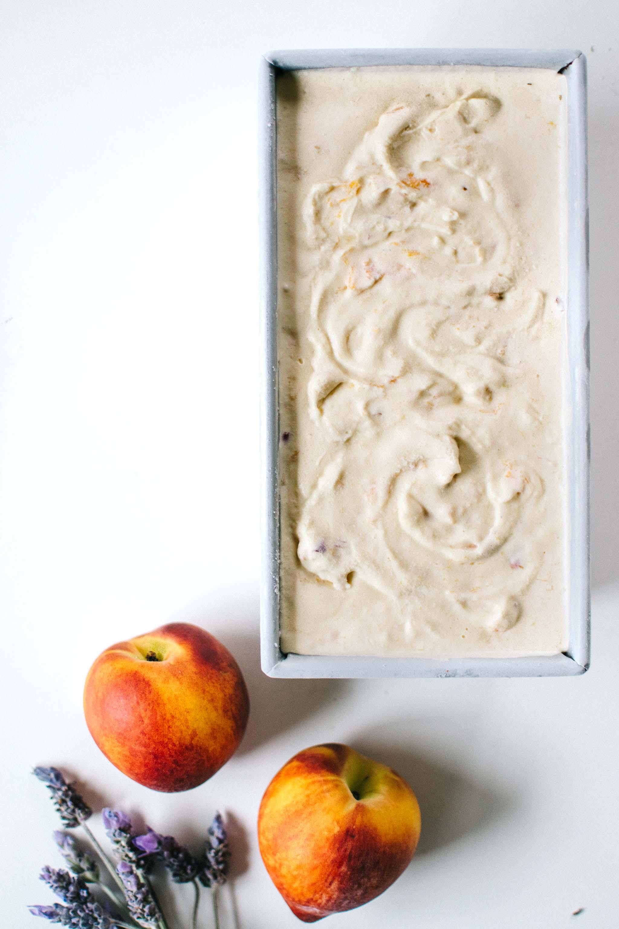 Lavender Peach Ice Cream