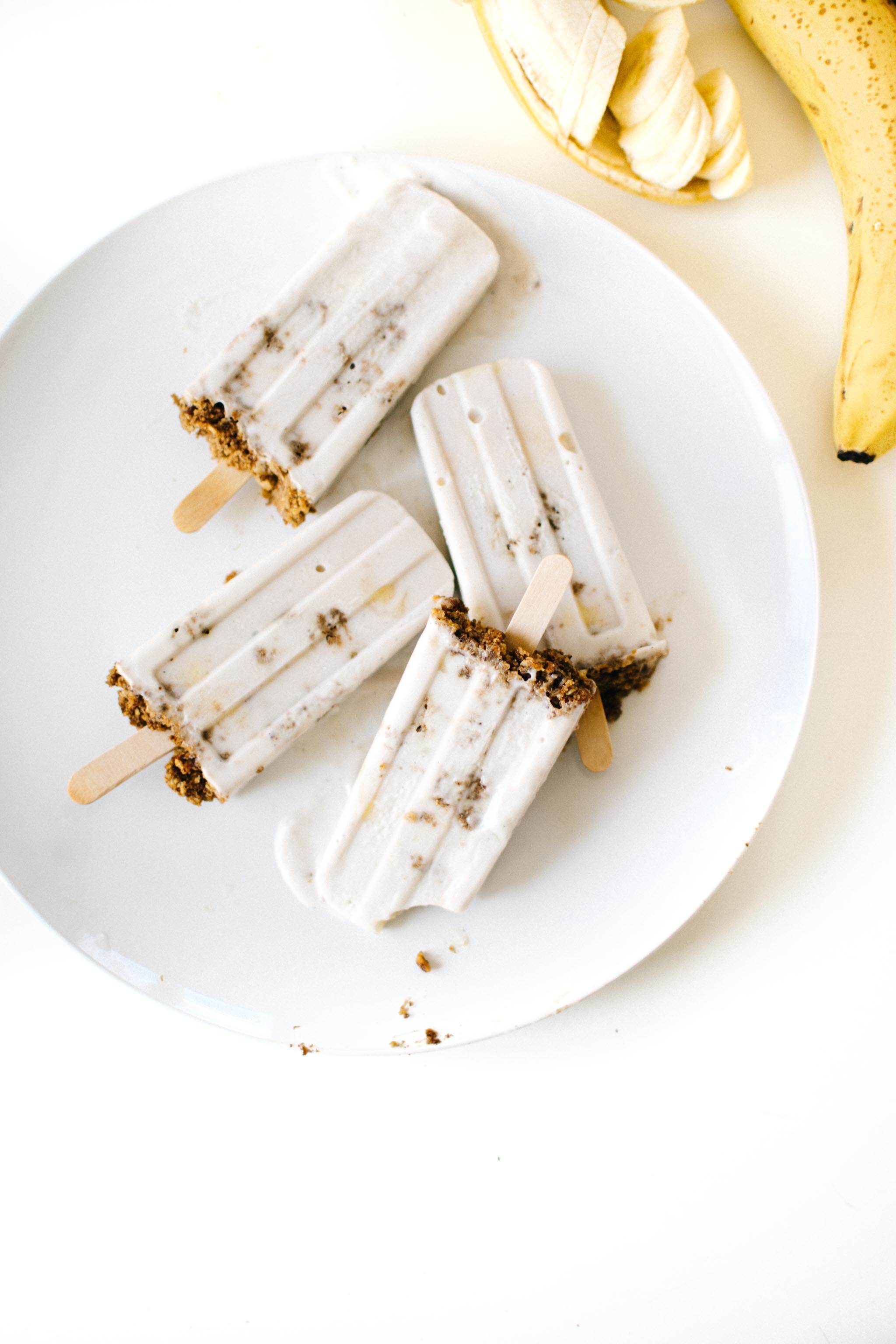 Vegan Banana Pudding Pops