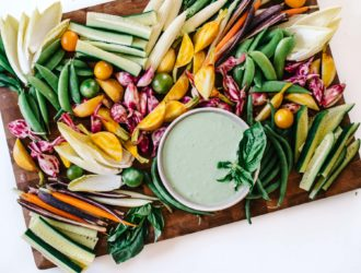 Pesto Yogurt Dip & The Ultimate Veggie Board