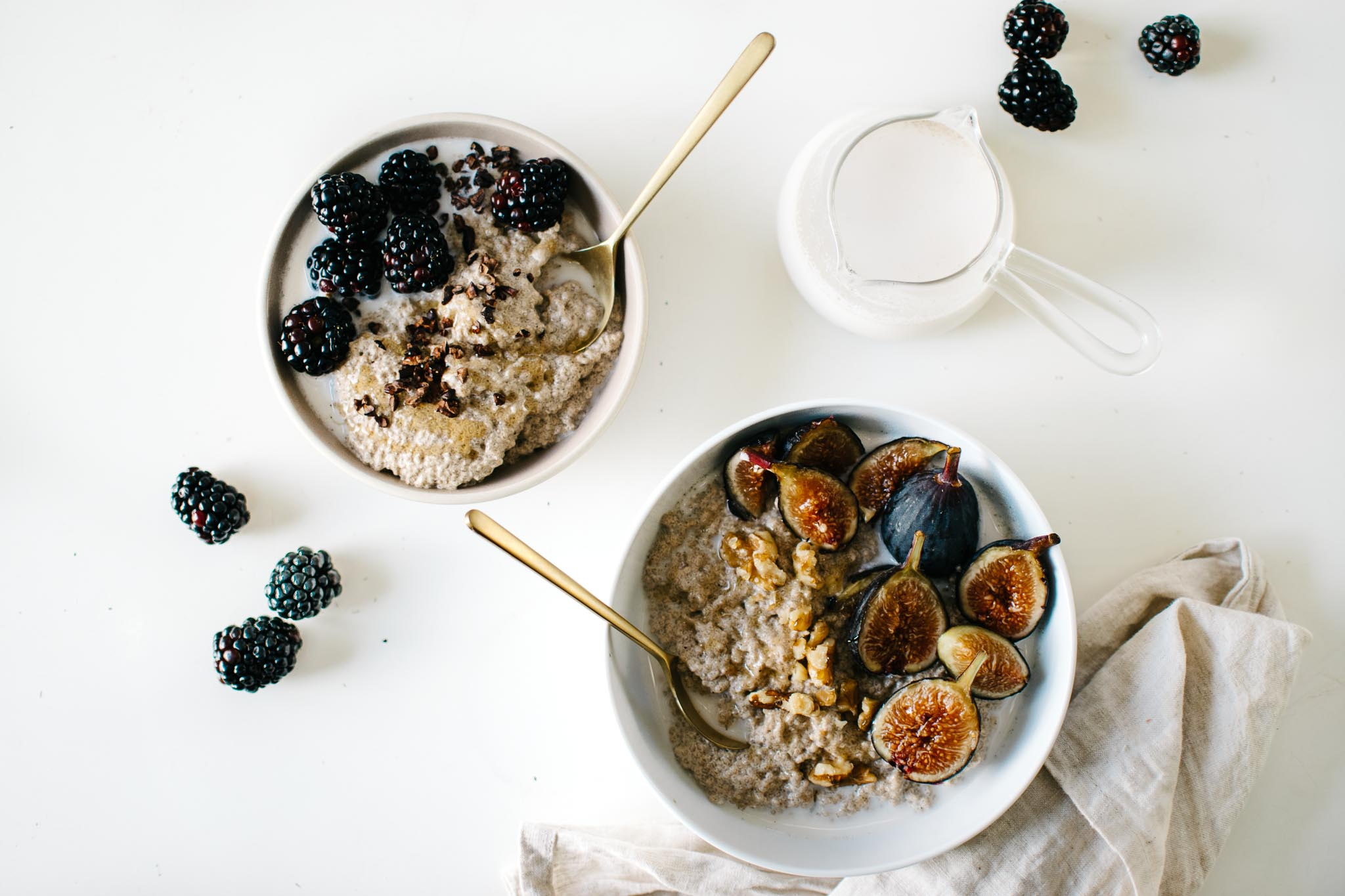 Hot Chia Seed Porridge with Hemp Walnut Milk