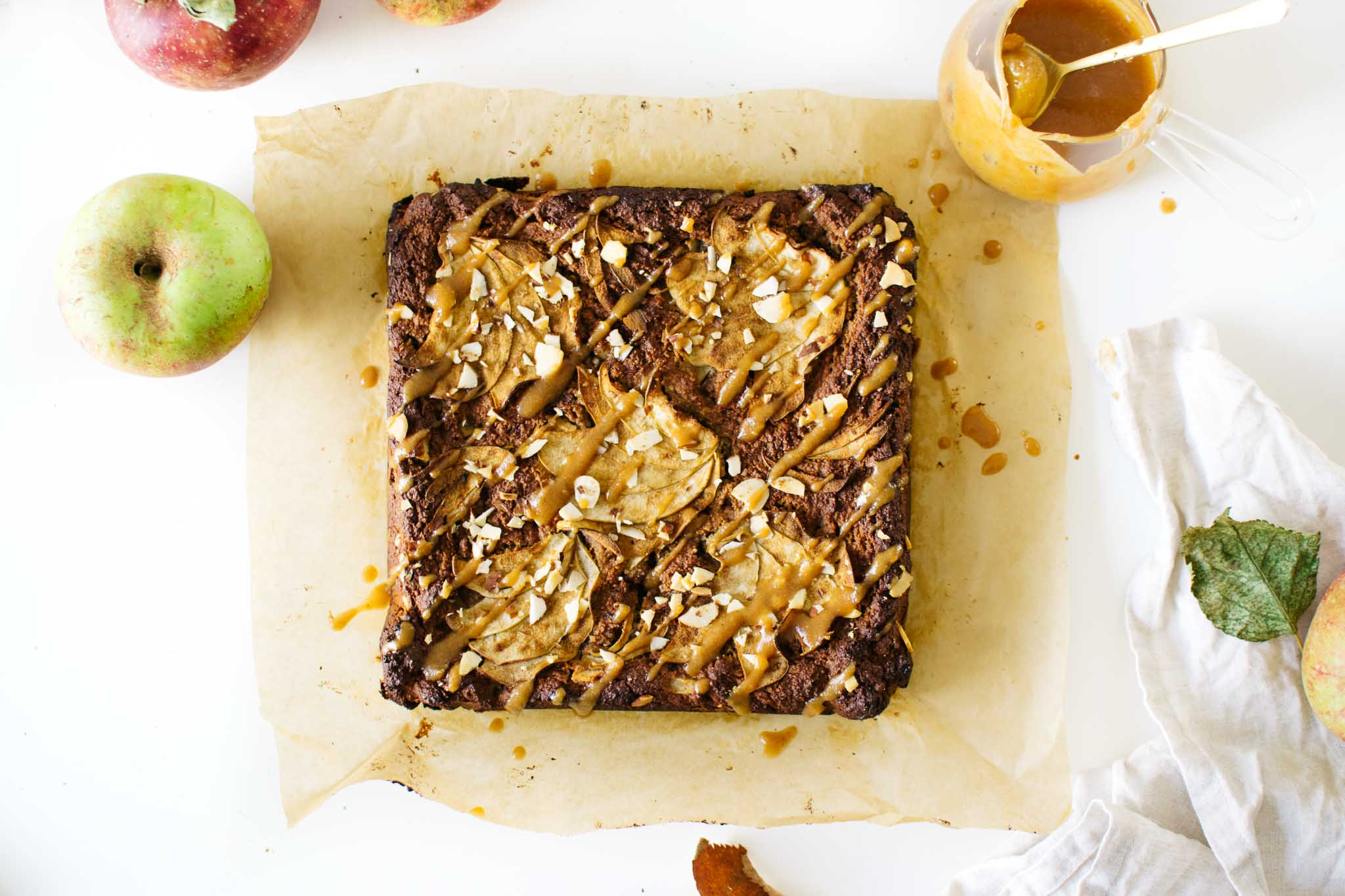 Grain-Free Vegan Miso Apple Blondies