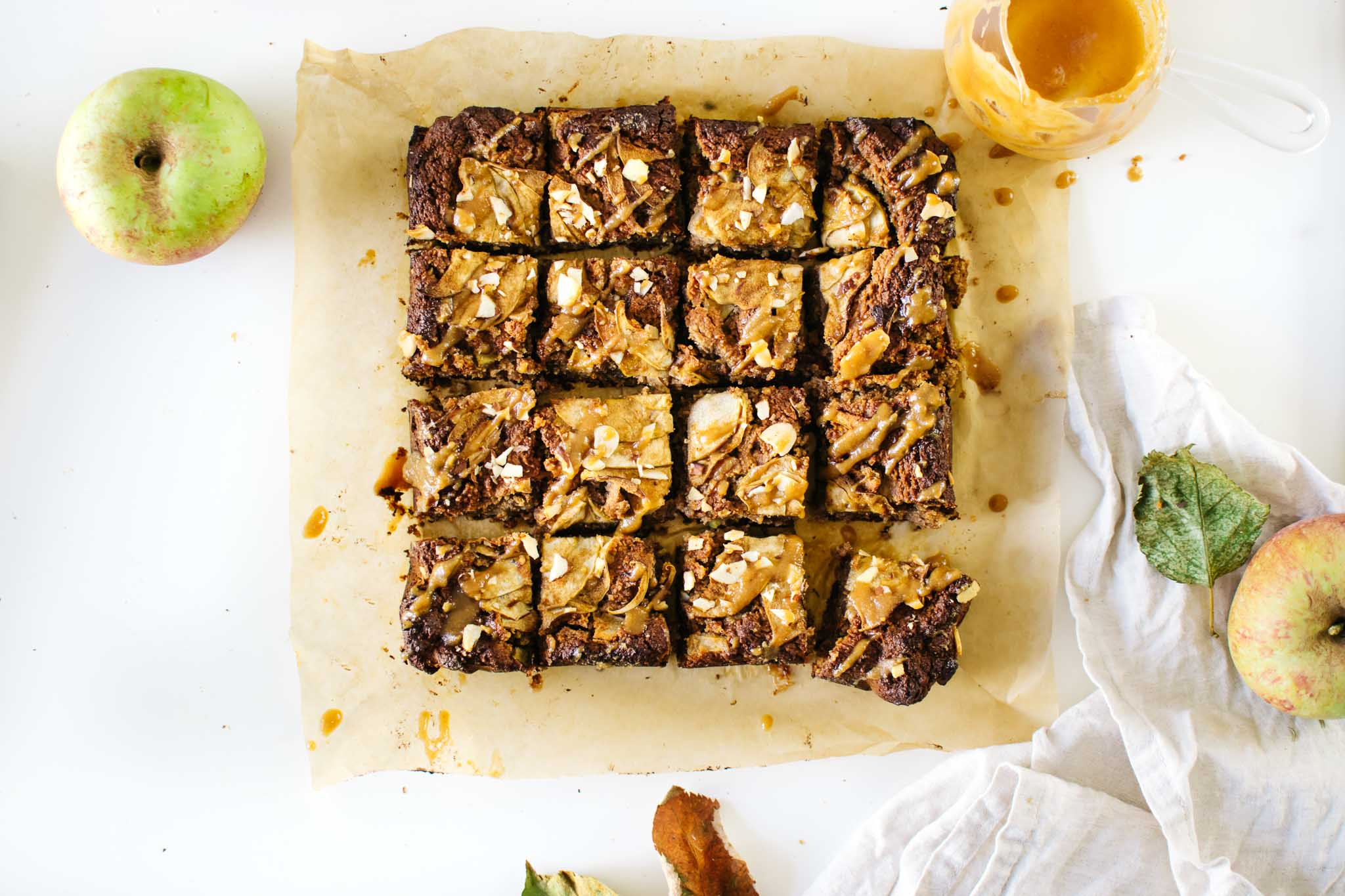 GRAIN-FREE VEGAN MISO APPLE BLONDIES + VERMONT.