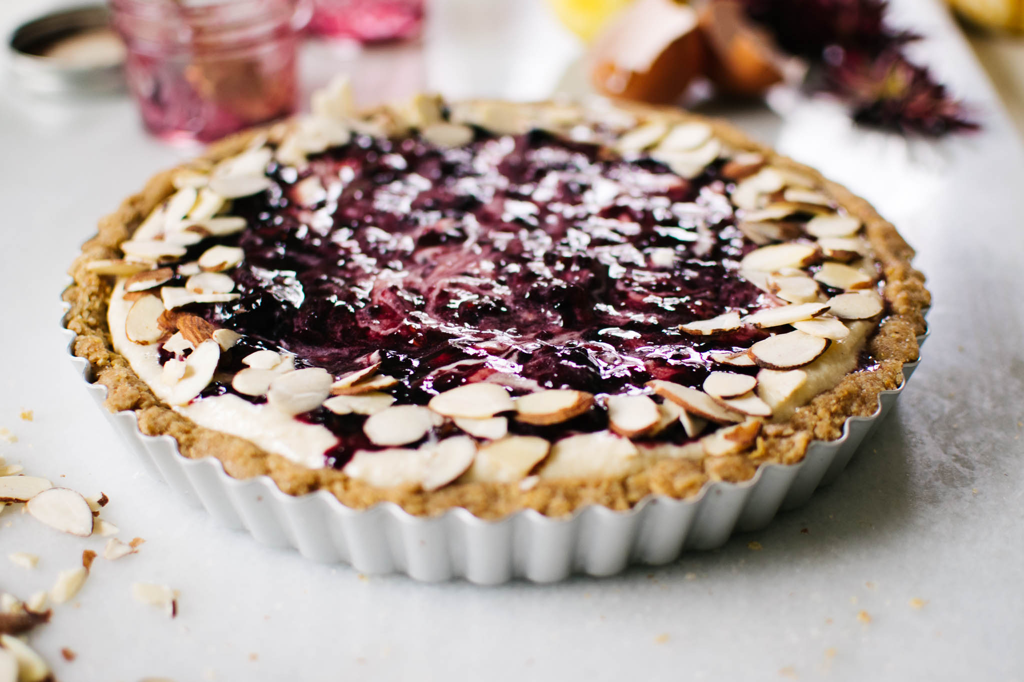 Ricotta & Jam Crostata from Naturally Vegetarian