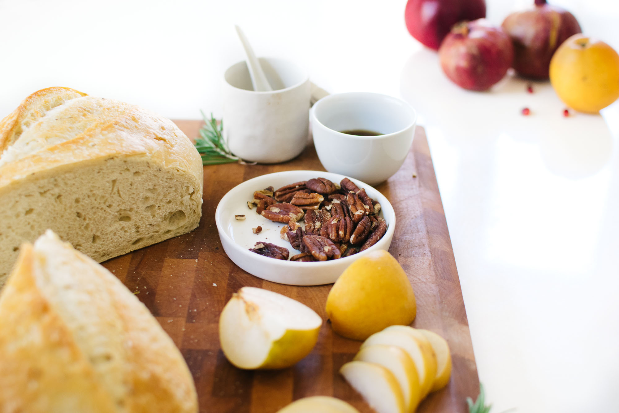 MAPLE-ROSEMARY PEAR & PECAN BAKED BRIE. | Kale and Caramel