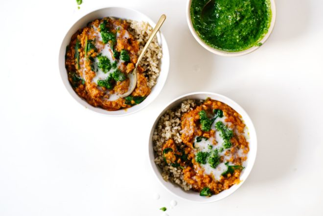 Coconut Curry Lentils from Pretty Simple Cooking