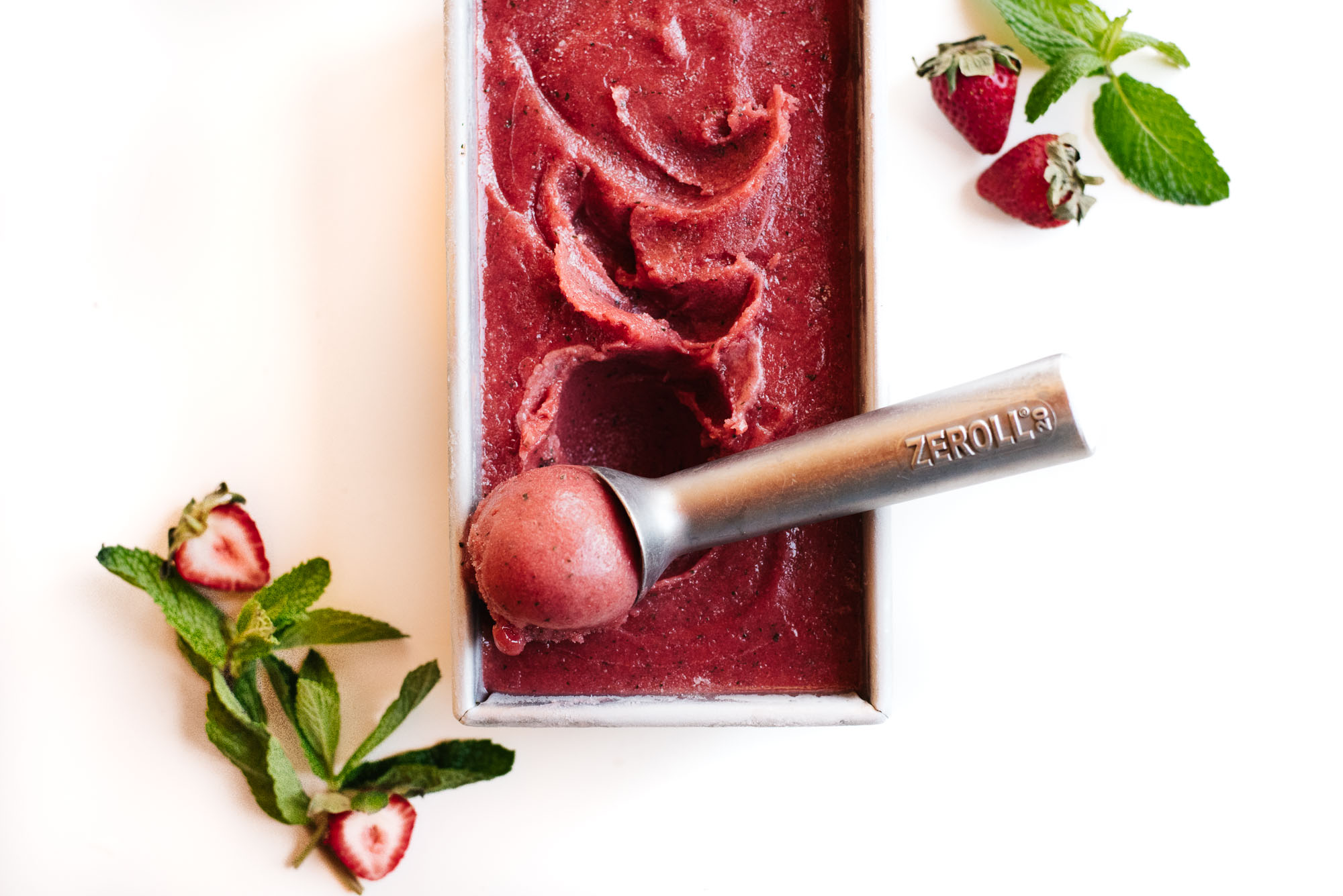 Hibiscus mint strawberry sorbet kale and caramel hibiscus mint strawberry sorbet izmirmasajfo