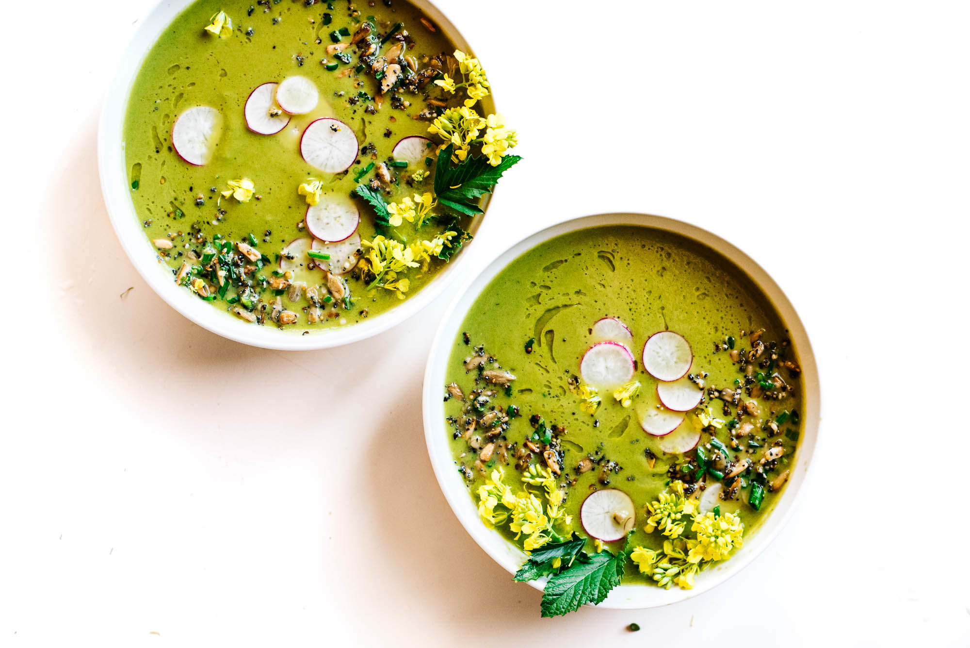roasted fennel spring greens soup kale and caramel